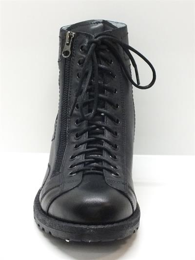 Anfibi nero giardini per uomo in pelle nera con lacci e lampo vitiello calzature vendita - Anfibi uomo nero giardini ...