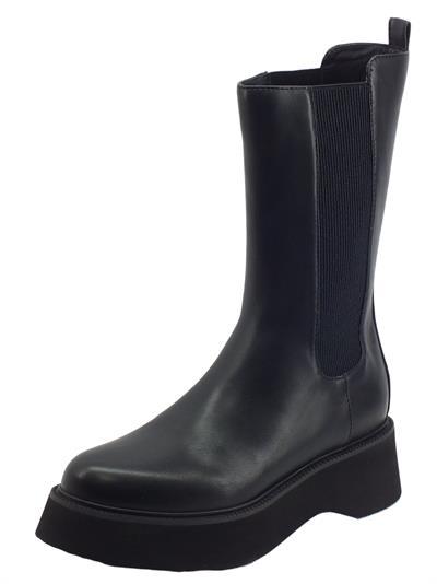 Articolo CAFèNOIR FL9040 Nero Stivali per Donna in ecopelle doppio elastico laterale