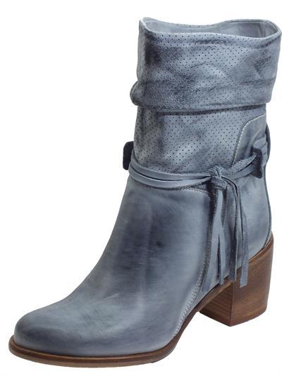 Articolo Deky 7070 MCFT Nabuk Spaz Jeans Stivali Donna in pelle blu spazzolata