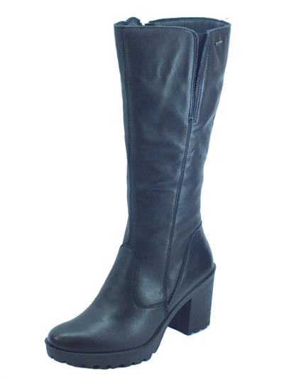 Igi&Co 4173500 Nappa Soft Nero Stivali donna pelle nera tacco alto