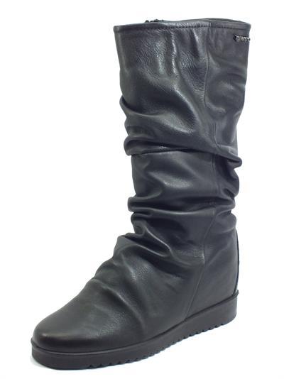 Articolo Igi&Co 6155200 Nappa Foulard Nero Stivali in pelle per donna con zeppa interna