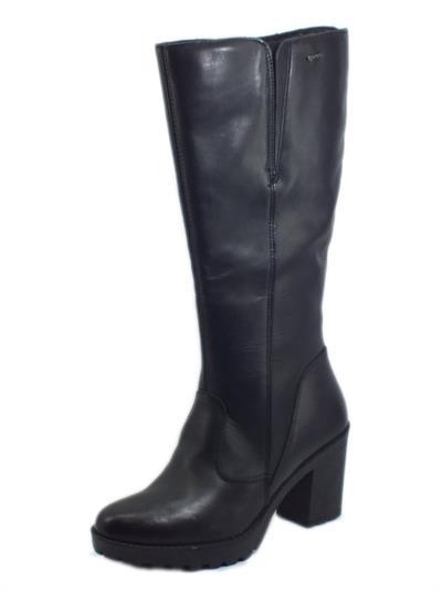 Igi&Co 6158100 Vitello Leon Nero Stivali per Donna con tacco alto in pelle elastico sul gambale