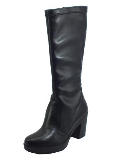 Articolo Igi&Co 6160500 Capra Nero Stivali con tacco per Donna in pelle e pelle elasticizzata nero