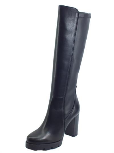 Articolo Igi&Co 6192700 Nappa Foulard Nero Stivali per Donna con tacco alto in pelle elasticizzata
