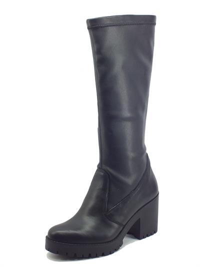 Igi&Co 8169100 Nappa Nero Stivali Donna in pelle ed ecopelle elasticizzata con tacco medio