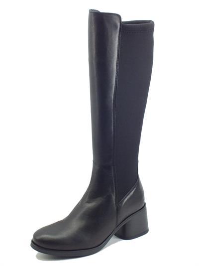 Articolo Igi&Co 8193400 Nappa Lycra Nero Stivali Donna in pelle e tesstu elasticizzato tacco medio