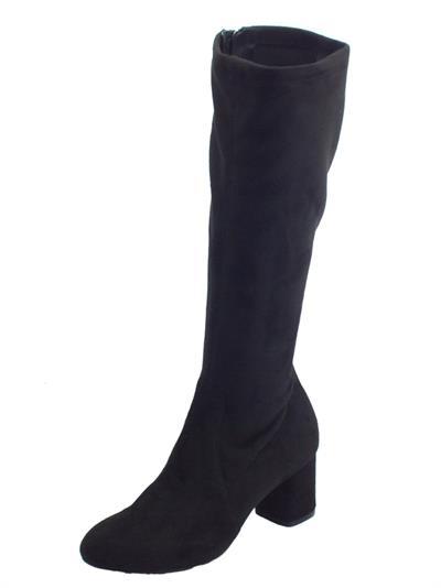 Articolo Melluso Z410F CD6 Nero Stivali con tacco per Donna in tessuto nero con lampo