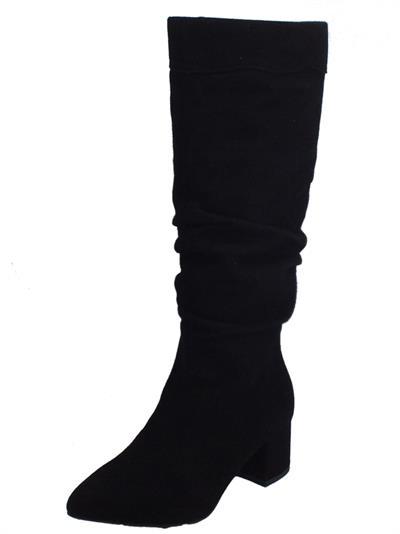 NeroGiardini A909443DE Capra Scam. Nero Stivali per Donna in camoscio con lampo
