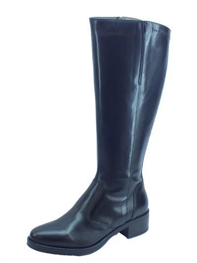 Articolo NeroGiardini A909600D Vitello BT Nero Stivali Donna con tacco basso in pelle con lampo