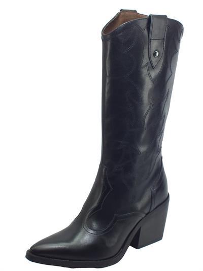 Articolo NeroGiardini I013274D Guanto Nero Stivali modello Camperos per Donna in pelle