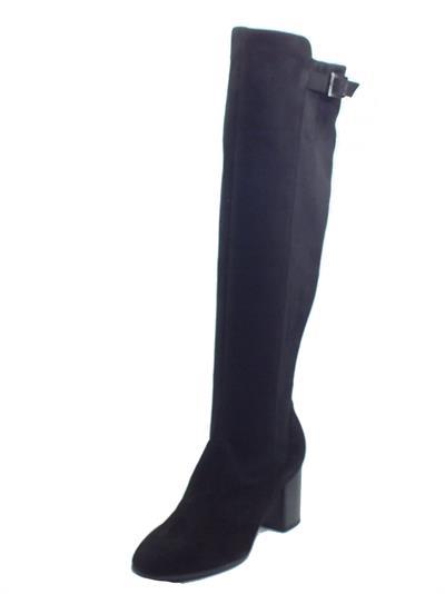 Articolo NeroGiardini I013610DE Capra Scam. Nero Stivali taglio ginocchio per Donna in nabuk con lampo