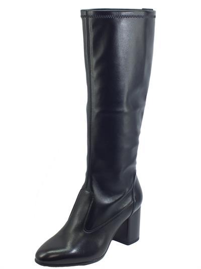 Articolo NeroGiardini I013612D Nappa Pandora Nero Stivali per Donna in pelle elasticizzata tacco alto