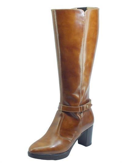 Articolo NeroGiardini I014000D Manolete Cuoio Stivali eleganti per Donna in pelle con lampo ed elastici