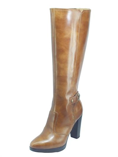 Articolo NeroGiardini I014010D Manolete Cuoio Stivali eleganti per Donna in pelle con lampo ed elastici