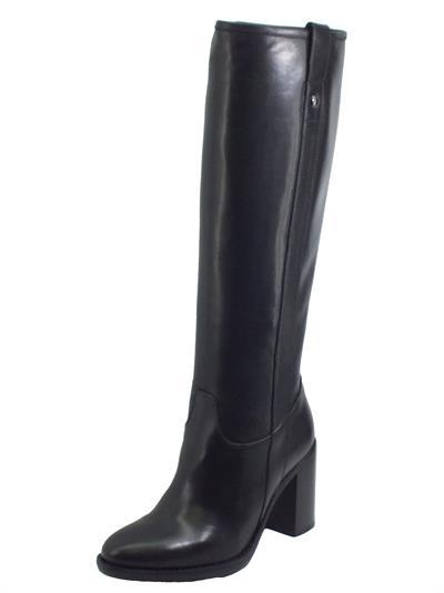 Articolo NeroGiardini I014041D Sauvage Nero Stivali per Donna in pelle con mezza lampo tacco alto