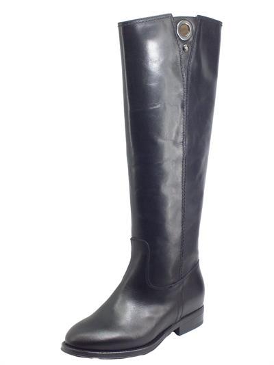 Articolo NeroGiardini I014050D Vitello BT Nero Stivali per Donna in pelle tacco basso