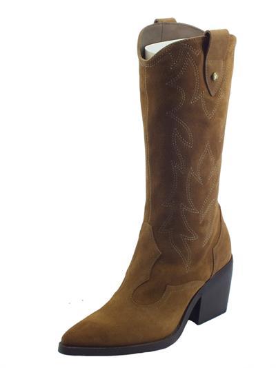 Articolo NeroGiardini I113274D Velour Malto Stivali per Donna in nabuk modello camperos a punta