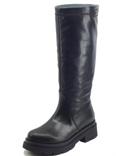 Articolo NeroGiardini I117127D Sauvage Nero Stivali Donna in pelle e nappa mobida