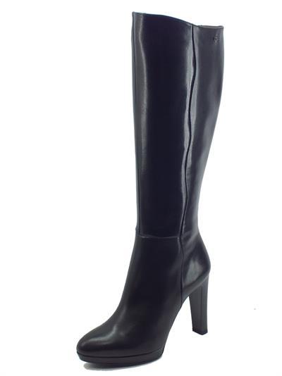 Articolo NeroGiardini I117252DE Nappa Pandora Nero Stivali Eleganti Donna in pelle con tacco alto