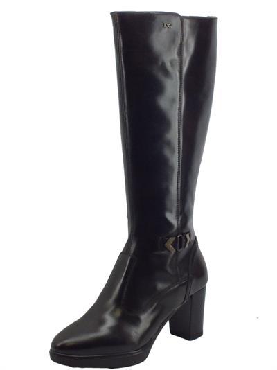 Articolo NeroGiardini I117500D Manolete T. di Moro Stivali Eleganti Donna in pelle lucida con tacco medio