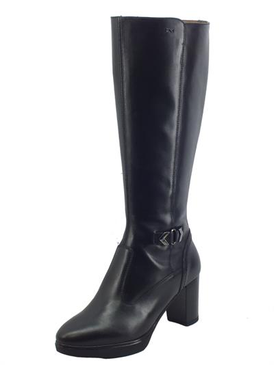 Articolo NeroGiardini I117500D Nero Stivali Eleganti Donna in pelle lucida con tacco medio