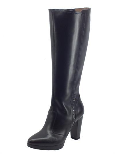 Articolo NeroGiardini I117520D Guanto Nero Stivali Eleganti Donna in pelle con tacco alto