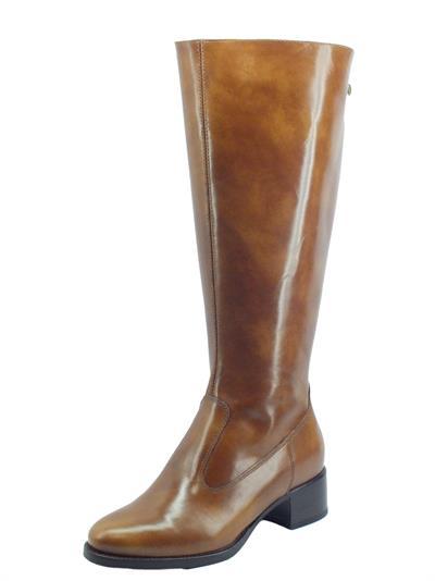 Articolo NeroGiardini I117561D Manolete Cuoio Stivali cavallerizzo per Donna pelle tacco basso doppia lampo