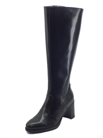 Articolo NeroGiardini I117571D Guanto Nero Stivali Eleganti Donna in pelle con tacco medio