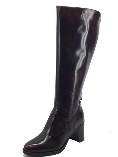 Articolo NeroGiardini I117571D Manolete T. di Moro Stivali Eleganti Donna in pelle tacco medio doppia lampo