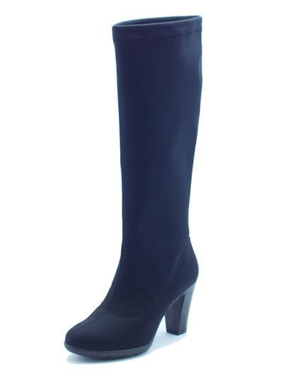 Stivali Easy'nRose per donna in tessuto elasticizzato nero