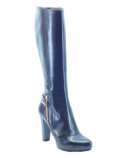Stivali NeroGiardini donna in pelle nera tacco 9cm