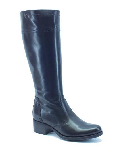 Articolo Stivali NeroGiardini donna modello cavallerizzo in pelle nera tacco 4cm