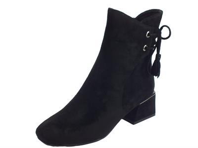 Articolo CafèNoir HHA945 010 Nero Tronchetti Donna in camoscio nero tacco alto