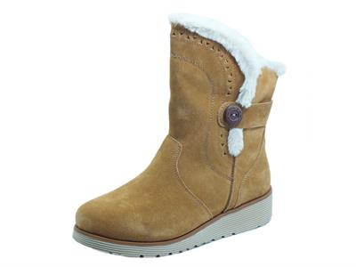Articolo Skechers 49811/TAN Cozy Peak Tan Mammut Water Repellent per donna in nabuk con pellicciotto