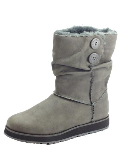 Articolo Skechers Warm Tech 44613/CCL KeepSakes Upland Charcoal Mammut in econabuk grigio