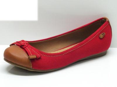 Ballerine Xti donna in tessuto rosso