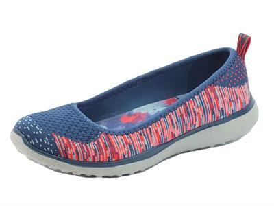 Ballerine Skechers Perfect Note in tessuto multicolore blu e rosa