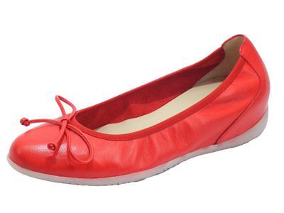 Wonders A-1101 Sauvag Rojo Ballerine alto in pelle rossa