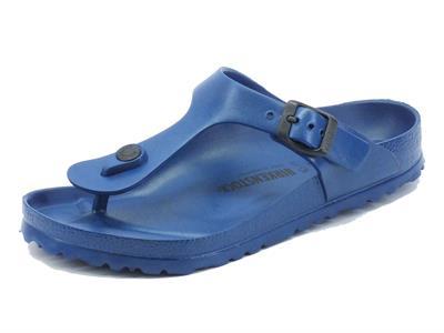 Articolo Infradito Birkenstock per donna in gomma blu scuro fibbia regolabile