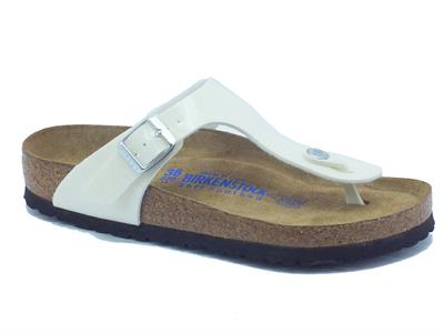 Infradito Birkenstock per donna in sintetico bianco magic