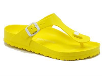 Articolo Infradito Birkenstock per donna in sintetico giallo