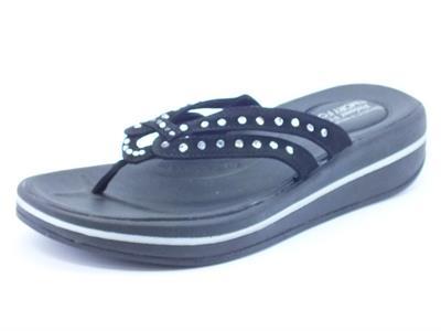 Infradito Skechers per donna colore nero