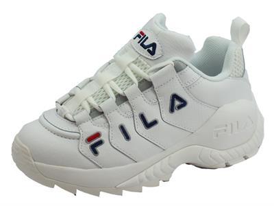 Articolo Fila 1010751.1FG Countdown Low WMN White Scarpe sportive con logo per donna in ecopelle