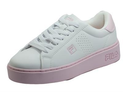 Articolo Fila Crosscourt Altezza White Lilac Scarpe Sportive per Donna in ecopelle bianca e rosa