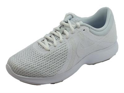 Nike Wmns Revolution 4 EU scarpe sportive per donna tessuto bianco