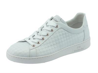 Scarpe NeroGiardini per donna modello skipper in pelle bianca