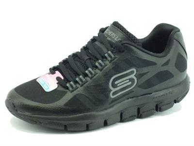Scarpe per donna Skechers Liv Walk-Run in tessuto nero