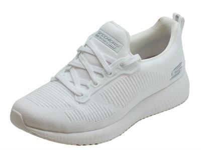 Articolo Scarpe Skechers Bobs Sport per donna in tessuto bianco