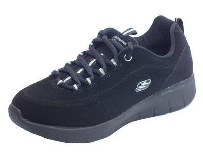 Articolo Scarpe sportive per donna Skechers in ecopelle colore nero