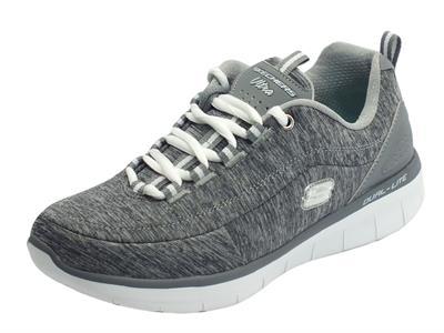 Articolo Scarpe sportive per donna Skechers in tessuto colore grigio